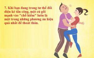 7 kỹ năng tự vệ dành cho bạn gái khi bị tấn công để tự cứu mình
